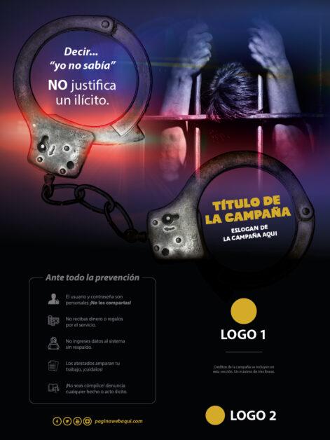 Afiche de la campaña de sensibilización de una institución descentralizada del gobierno de guatemala.