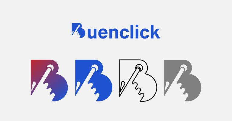 Logotipo Buenclick versiones de color